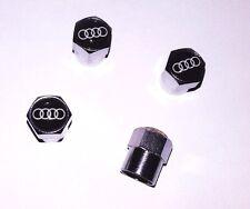 Bouchon de Valve en alu couleur chrome - Audi - Lot de 4