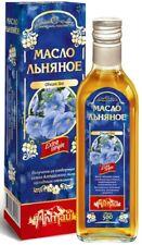 500 ml Leinsamenöl 100% Naturprodukt Kaltgepresst Льняное масло Льна Leinöl