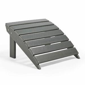 VonHaus Adirondack Garden Footstool - All Weather Wood Effect Outdoor Furniture