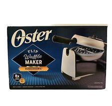 Oster Waffle Maker Belgian Flip Style DuraCeramic Titanium Infused Non-Stick