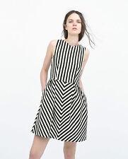 Zara V-Neck Striped Dresses for Women