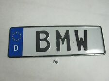 German  License Plate European Euro for BMW Label