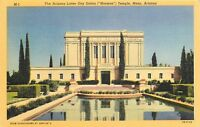 LINEN Postcard AZ E158 Latter Day Saints Mormon Temple Mesa Arizona Curteich