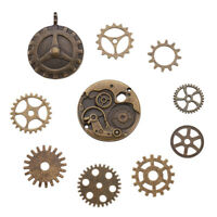 10pcs Assorted Tibetan Antique Gears Pendant Bronze Watch Parts Steampunk Cogs