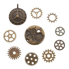 10pcs Assorted Tibetan Antique Gears Pendant Bronze Watch Parts Steampunk Cogs