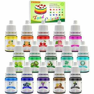 Lebensmittelfarbe - 15 Flüssige Lebensmittel Farben Set für Kuchen Backen Profi