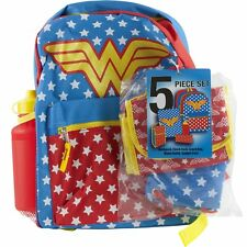 Wonder Woman School Backpack Book Bag Lunch Tote Pencil Case Water Bottle Sack