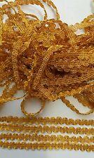 5 METER Gold Spitze 1cm breit Borte Elegant