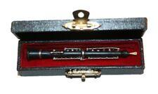 Puppenstube Miniatur - Oboe schwarz mit Koffer 1:10 - 8,7cm