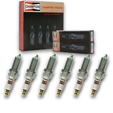 6 pc Champion 9010 Iridium Spark Plugs REC10WMPB - Pre Gapped Ignition gk