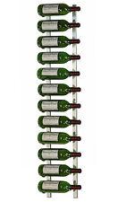 12 Bottle VintageView® Metal Wall Mounting Wine Rack. Brushed Nickel Finish.