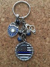 Police Thin Blue Line Keychain