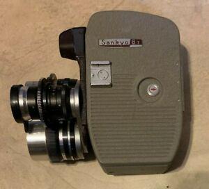 Antique Vintage 8mm Camera Sankyo Model 8T Made in Japan