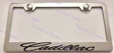Cadillac Incursive Style Stainless Steel License Plate Frame Rust Free W/ Caps