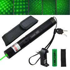 SEHR HELL 10miles Laserpointer Grün Präsentation 1mw 532NM 303 Laserlicht +Akku