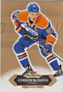 2016-17 16-17 CONNOR MCDAVID OILERS FLEER SHOWCASE #49 !