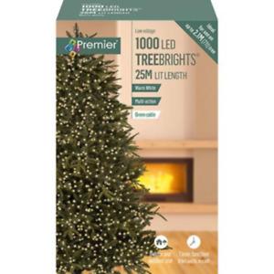 1000 LED Christmas Tree Lights 7ft Tree Multi Action Cluster Timer Warm White