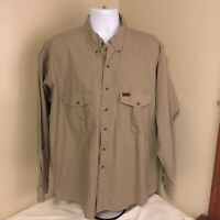 Pendleton Mens Shirt 100% Cotton Long Sleeve Gray Safari Style Free Shipping