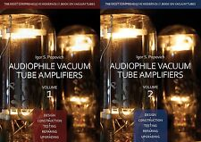Audiophile Vacuum Tube Amplifiers, Volumes 1 & 2, NEW BOOKS, for 300B 6SN7 12AX7