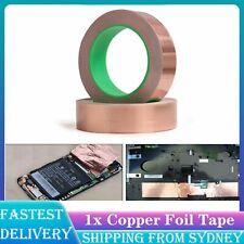2x Copper Foil Tape - 10mm * 20m Double-sized Conductive EMI Shielding Adhesive