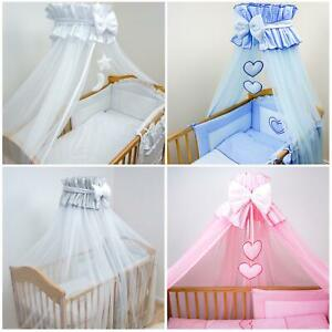 Cot Chiffon Canopy Mosquito Net 480cm Large Drape for Baby Floor Clamp Holder