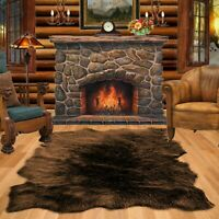 Bear Skin Accent Rug, Sheepskin, Random Shape Area Throw, FUR ACCENTS