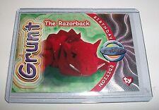 Ty S4 Rare Silver *Grunt The Razorback * Beanie Birthday Card Insert #275