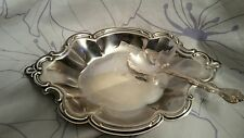 INTERNATIONAL SILVER COMPANY SERVING PLATE AND SPOON