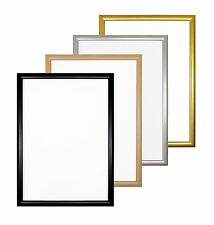 Budget Picture Frames Photo Poster Frames In Black Silver Gold Oak - A4 A3 10x8