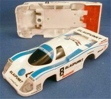 TOMY Porsche 962 Blaupunkt Rare LIT Slot Car Body NOS