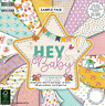 DOVECRAFT PREMIUM HEY BABY PAPERS 8 X 8 SAMPLE PACK -  16 SHEETS - POSTAGE DEAL