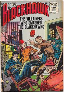 Blackhawk #90 Quality Comics 1955 Dick Dillin Art GD+