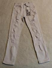 Almost Famous Women's Distressed Vintage Mom Jeans Dd5 White Size 0 Nwt