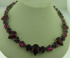 Sorrelli Pink Ruby Necklace NCR19ASPR Antique silver tone