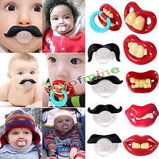 Bébé Nouveau-né Enfant Sucette Tétine Moustache Pacifier Orthodontie Dent Drôle