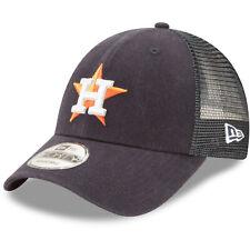 Houston Astros New Era 9FORTY MLB Trucker Adjustable Snapback Hat Mesh Cap 940