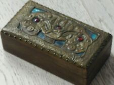 Boite à timbres Art Nouveau /Art Populaire french stamp box Stempel timbro