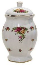 """ROYAL ALBERT OLD COUNTRY ROSES 11"""" COOKIE JAR NEW IN THE BOX"""