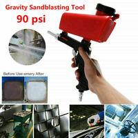 Portable Media Spot Sand Blaster Gun Air Gravity Feed Sandblaster Hot T9D5