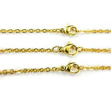 Stainless Steel Gold Plated - 316 Grade Necklace Chains Jewelry Supplies