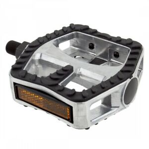 """SUNLITE Cruiser 1/2"""" Silver/Black Bicycle Pedals"""