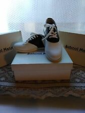 School Mate Girls' Black & White Oxford Uniform Shoes Size 5 XW  Brand NEW w/box