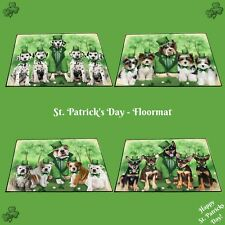 St. Patrick's Day Floormat, Dogs, Cats, Pet Photo lovers gift doormat home decor