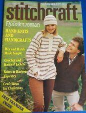 Vintage Stitchcraft Knitting Pattern Magazine November 1978