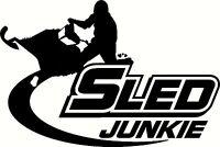 sled junkie vinyl decal window or bumper sticker snowmobile ski-doo arctic cat