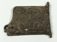 Antique Cast Iron Queen Mini Toy Stove Door part repair