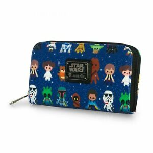 Official Loungefly Star Wars Kawaii Character Purse Wallet *Brand New*