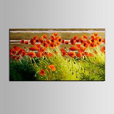 Ölgemälde Leinwand Blumen Mohn von der Kabine Poppies by the Cabin kein Rahmen