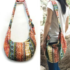 Hippie Hobo Shoulder Handbags Large Crossbody Messenger Bag Floral Print Purse