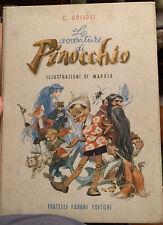 LE AVVENTURE DI PINOCCHIO 1955 COLLODI MARAJA FRATELLI FABBRI EDITORI RARO